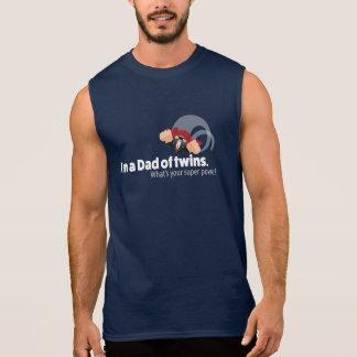 T-shirt Sans Manches Papa des jumeaux