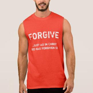 T-shirt Sans Manches Pardonnez - la chemise sans manche des hommes