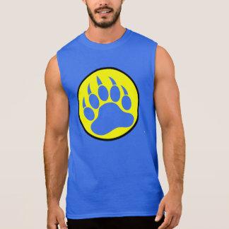 T-shirt Sans Manches Patte d'ours noir jaune