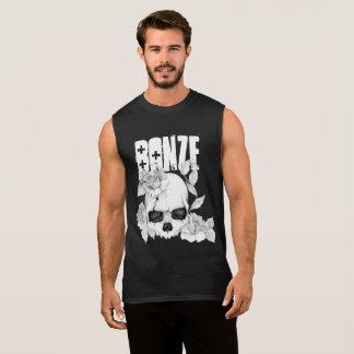 T-shirt Sans Manches Pièce en t de crâne de substance gluante de mA de