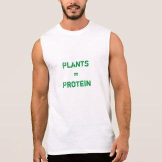 T-shirt Sans Manches plantes = protéine