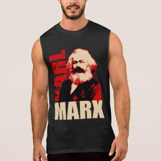 T-shirt Sans Manches Portrait de Karl Marx - socialiste et communiste