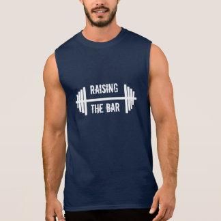 T-shirt Sans Manches Relèvement du réservoir des hommes de barre