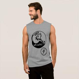 T-shirt Sans Manches Réservoir de loups gris