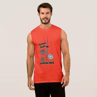 T-shirt Sans Manches Réservoir mis par tir drôle de jet de javelot de
