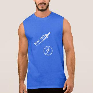 T-shirt Sans Manches Réservoirs de jets bleus