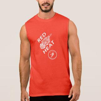 T-shirt Sans Manches Réservoirs de la chaleur rouge