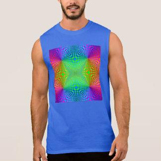 T-shirt Sans Manches Rétro motif à trois dimensions super