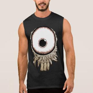 T-shirt Sans Manches son un oeil freaking avec des dents