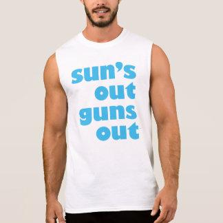 T-shirt Sans Manches Sun lance la chemise sans manche des hommes