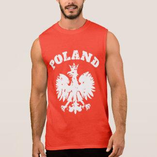 T-shirt Sans Manches Symbole polonais d'Eagle de la fierté des hommes