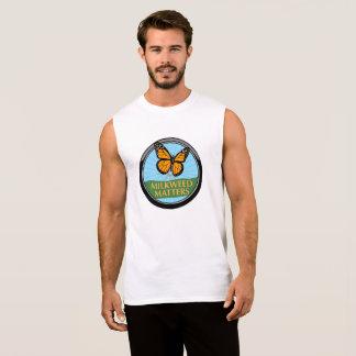 T-shirt Sans Manches T blanc avec le logo de couleur