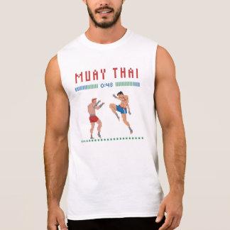 T-shirt Sans Manches Thaïlandais de Muay de pixel