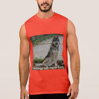 T-shirt Sans Manches Wolfdogs sont plus d'amusement !