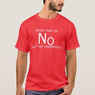 T-shirt Sans quelle partie ne comprenez-vous pas ?