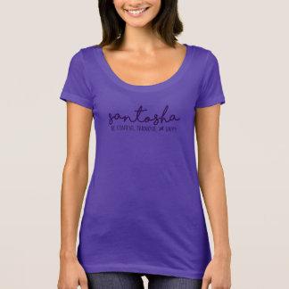 T-shirt Santosha :  Soyez contenu, reconnaissant et