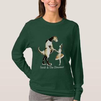 T-shirt Sarah et la Long-Douille des femmes de dinosaure