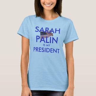 T-shirt Sarah Palin est mon président