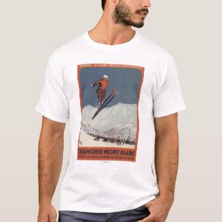T-shirt Saut à skis - affiche olympique de promo de PLM