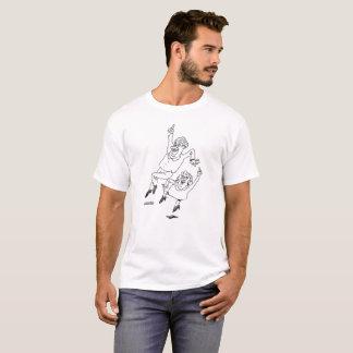 T-shirt saut de révolution de travailleur social pour la