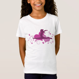 T-Shirt Saut rose de gymnastique de coeur