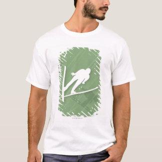 T-shirt Sauter de ski de deux hommes