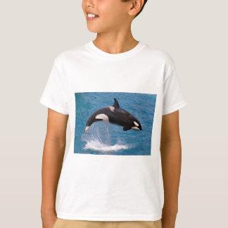 T-shirt Sauter d'épaulard de l'eau