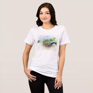 T-shirt sauvage de violettes