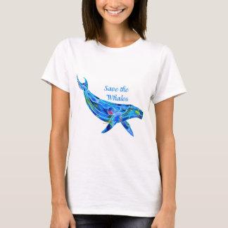 T-shirt Sauvez la baleine de bosse