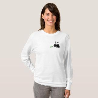 T-shirt Sauvez la chemise de LongSleeve de femme de pandas