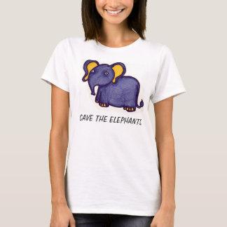 T-shirt Sauvez la chemise d'éléphants