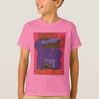 T-shirt Sauvez la pièce en t de gorille