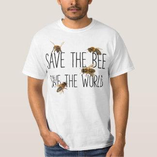 T-shirt Sauvez l'abeille ! Sauvez le monde ! Vivent la