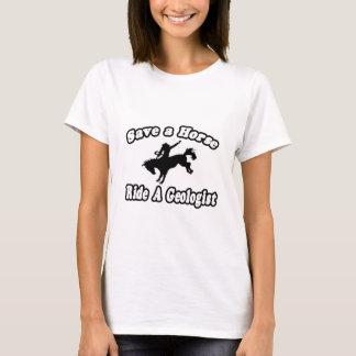 T-shirt Sauvez le cheval, géologue de tour