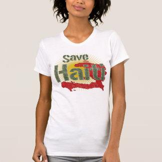 T-shirt Sauvez le Haïti (vert) - montant vont à la