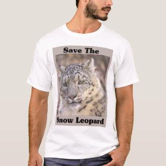 T-shirt Sauvez le léopard de neige