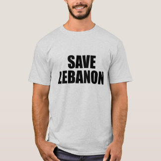 T-shirt Sauvez le Liban