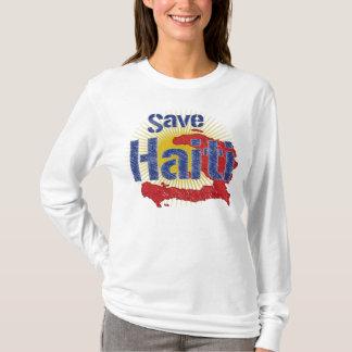 T-shirt Sauvez le montant du Haïti (bleu) - vont à la