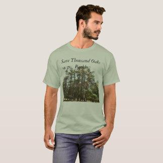 T-shirt Sauvez le parc de Thousand Oaks--les faucons et