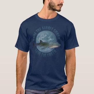T-shirt Sauvez le requin de baleine (la chemise foncée)