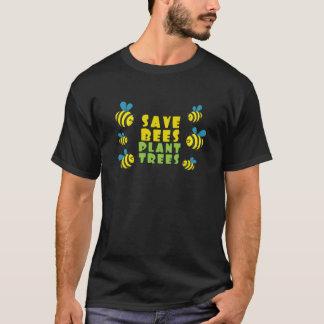 T-shirt Sauvez les abeilles, arbres de plante