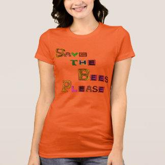 T-shirt Sauvez les abeilles satisfont le style génial