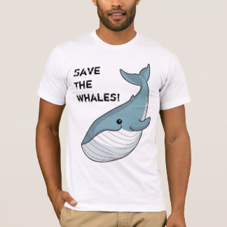 T-shirt Sauvez les baleines !