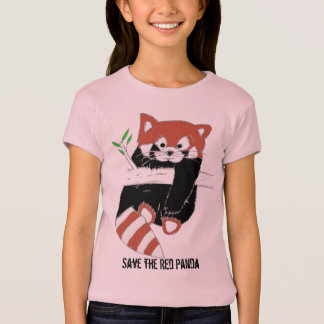 T-shirt Sauvez les chemises de FireFox de panda rouge aka