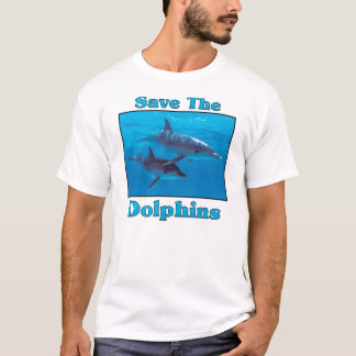 T-shirt Sauvez les dauphins