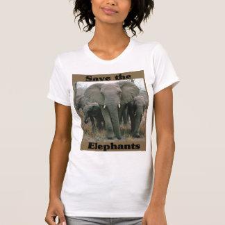 T-shirt Sauvez les éléphants