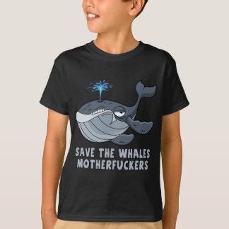 T-shirt Sauvez les enculés de baleines