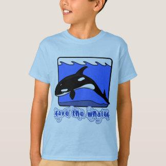 T-shirt Sauvez les produits d'orques de baleines