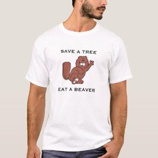 T-shirt Sauvez un arbre, mangez un castor