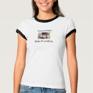 T-shirt Sauvez un cheval, montez un cowboy